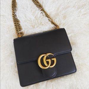Unique Black Leather Gucci Bag